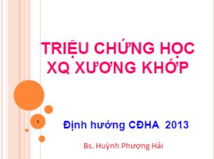 Bs Huỳnh Phượng HảiTài liệu lớp ĐHCK CĐHA 2013